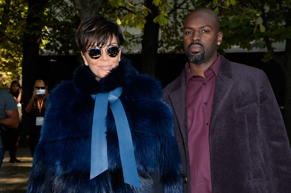 Elie Saab : Front Row - Paris Fashion Week Womenswear Spring/Summer 2016 [blue,eyewear,fur,fashion,outerwear,glasses,fur clothing,human,fun,sunglasses,corey gamble,kris jenner,front row,part,paris,france,elie saab,paris fashion week womenswear spring]