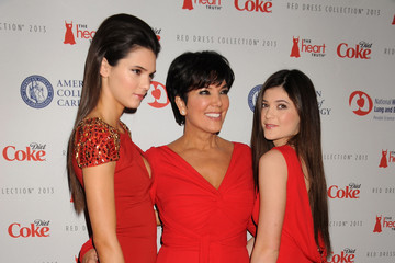 Kris Jenner Kylie Jenner The Heart Truth 2013 Fashion Show - Arrivals
