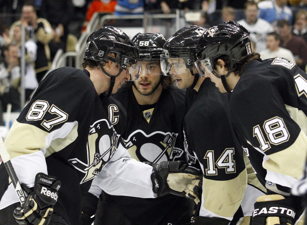 Photo of Kristopher LeTang & his friend  Sidney Crosby