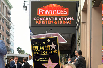 Kristen Bell Double Walk of Fame Ceremony For Kristen Bell And Idina Menzel