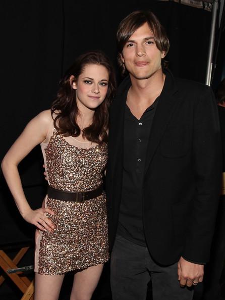 Kristen Stewart Actors Kristen Stewart and Ashton Kutcher attend the 2011 People's Choice Awards at Nokia Theatre L.A. Live on January 5, 2011 in Los Angeles, California.