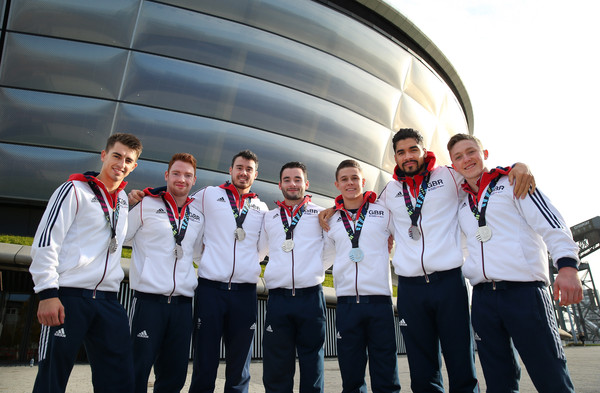 A Year in Focus with British Gymnastics Team [group photograph,team,crew,championship,uniform,event,competition event,recreation,competition,medal,max whitlock,nile wilson,louis smith,focus,silver medals,british,great britain,gymnastics team,team]