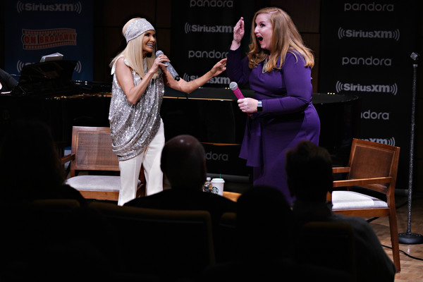 Kristin Chenoweth Performs Live At Steinway Hall In New York City [on broadway channel,event,performance,performing arts,talent show,conversation,heater,stage,adaptation,music,kristin chenoweth performs live on siriusxm,julie james,kristin chenoweth,channel,steinway hall,new york city,siriusxm]