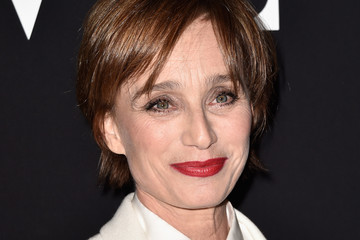 Kristin Scott Thomas Front Row at Giorgio Armani Prive
