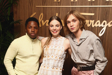 Kristine Froseth Charlie Plummer ELLE X Ferragamo Hollywood Rising Party - Arrivals
