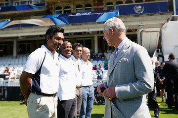 Kumar Sangakkara The Prince of Wales Launches the ICC Champions Trophy