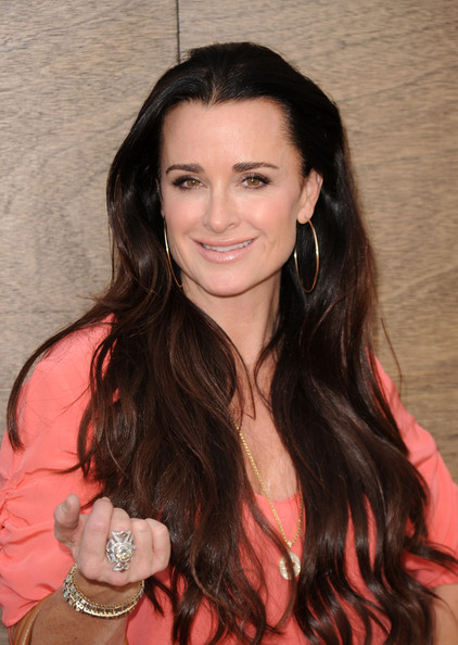 kyle richards hair. out star Kyle Richards was