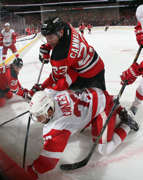 new product 5d931 c633f Kyle Quincey Photos Photos - Detroit Red Wings v New Jersey ...