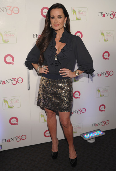 "Kyle Richards TV personality Kyle Richards attends ""FFANY Shoes on Sale"" Benefit for Breast Cancer Research and Education, presented by QVC at Frederick P. Rose Hall, Jazz at Lincoln Center on October 13, 2010 in New York, New York."