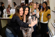 Kyle Richards (R) and guest attend the Kendra Gives Back event at Kendra Scott on February 12, 2020 in Century City, California.