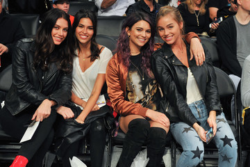 Kyra Santoro Celebrities Visit the Los Angeles Lakers Game