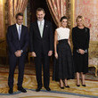 Kyriakos Mitsotakis Spanish Royals Receive COP25 Participants At The Royal Palace