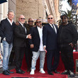 L.A. Reid Tommy Mottola Honored With A Star On The Hollywood Walk Of Fame