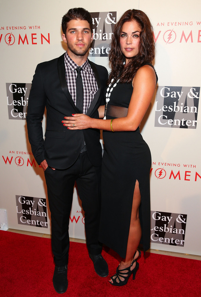 Actor Bryan Craig (L) and actress Kelly Thiebaud attend The L.A. Gay & Lesbian