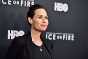 """Minnie Driver attends the L.A. premiere of HBO's """"Ice On Fire"""" at LACMA on June 05, 2019 in Los Angeles, California."""