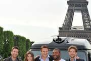 "(L-R) Actors Sharlto Copley, Jessica Biel, Liam Neeson, Quinton 'Rampage' Jackson and Bradley Cooper attend a photocall for the Joe Carnahan's film ""L'agence Tous Risques""  on June 14, 2010 in Paris, France."