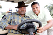 Actor Ving Rhames (L) and Reggie Theus attend LA Clippers Foundation Charity Golf Classic on October 24, 2016 in Pacific Palisades, California.