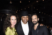 Andie MacDowell, LL Cool J and Benjamin Millepied attend LA Dance Project's 2019 Fundraising Gala on October 19, 2019 in Los Angeles, California.