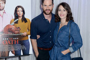 Tom Riley and Lizzy Caplan attend LA Film Festival World Premiere Gala Screening Of THE OATH on September 25, 2018 in Los Angeles, California.