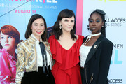 """(L-R) Lucy Liu, Ginnifer Goodwin and Kirby Howell-Baptiste attend the LA Premiere of CBS All Access' """"Why Women Kill"""" at Wallis Annenberg Center for the Performing Arts on August 07, 2019 in Beverly Hills, California."""