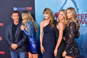 "Sylvester Stallone, Sistine Rose Stallone, Jennifer Flavin, Sophia Rose Stallone, and Scarlet Rose Stallone attends the LA Premiere of Entertainment Studios' ""47 Meters Down Uncaged"" at Regency Village Theatre on August 13, 2019 in Westwood, California."