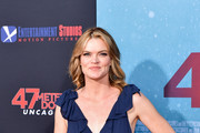 """Missi Pyle attends the LA Premiere of Entertainment Studios' """"47 Meters Down Uncaged"""" at Regency Village Theatre on August 13, 2019 in Westwood, California."""