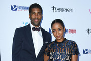 """Fonzworth Bentley and Faune Chambers attend the LA Premiere Of Entertainment Studios Motion Pictures' """"The Wedding Year"""" at ArcLight Hollywood on September 12, 2019 in Hollywood, California."""