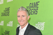 Chase Utley arrives at the LA Premiere of 'The Game Changers' at ArcLight Hollywood on September 04, 2019 in Hollywood, California.