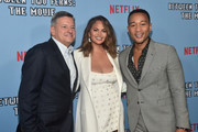 "Ted Sarandos, Chrissy Teigen and John Legend attend the premiere of Netflix's ""Between Two Ferns: The Movie"" at ArcLight Hollywood on September 16, 2019 in Hollywood, California."