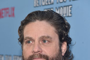 "Zach Galifianakis attends the premiere of Netflix's ""Between Two Ferns: The Movie"" at ArcLight Hollywood on September 16, 2019 in Hollywood, California."