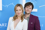 """Beth Riesgraf and Jon Fletcher attend LA Premiere Of Starz's """"The Rook"""" at The Getty Museum on June 17, 2019 in Los Angeles, California."""