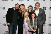 (L - R) Ed Gass-Donnelly, Abbie Cornish, Sarah Abbott, Peyton Kennedy, Lola Flanery, and Diego Klattenhoff attend the LAVENDER World Premiere at Tribeca Film Festival 2016 on April 18, 2016 in New York City.
