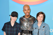 (L-R) Sara Quin, Kalen Allen and Tegan Quin attend LOVELOUD Festival 2019 Powered by AT&T at USANA Amphitheatre on June 29, 2019 in West Valley City, Utah.