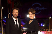 """Director Nicolas Bedos and Fanny Ardant attend the """"La Belle Epoque"""" red carpet during the 14th Rome Film Festival on October 20, 2019 in Rome, Italy."""