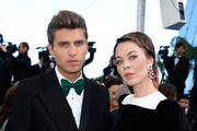 (L-R) Frol Burimsky and Ulyana Sergeenko attend the 'La Venus A La Fourrure' premiere during The 66th Annual Cannes Film Festival at the Palais des Festivals on May 25, 2013 in Cannes, France.