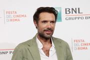 """Nicolas Bedos attends the photocall of the movie """"La belle Epoque"""" during the 14th Rome Film Festival on October 20, 2019 in Rome, Italy."""