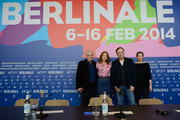(L-R) Actor Andres Dussolier, actress Lea Seydoux, director Christophe Gans and actress Yvonne Catterfeld attend the 'La belle et la bete' (Die Schoene und das Biest) press conference during 64th Berlinale International Film Festival at Grand Hyatt Hotel on February 14, 2014 in Berlin, Germany.