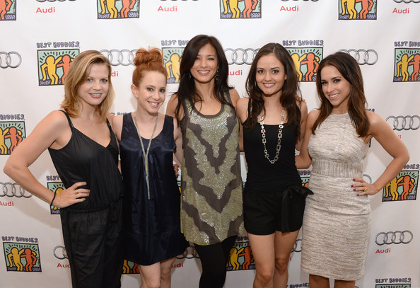 Celebs at the Best Buddies Poker Event [event,yellow,dress,little black dress,premiere,party,stephanie lemelin,amy davidson,lacey chabert,danica mckellar,kelly hu,best buddies poker event,audi beverly hills,california]
