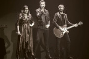 "Image was processed using digital filters) (L-R) Recording artists Hillary Scott, Charles Kelley and Dave Haywood of Lady Antebellum perform as the band kicks off its 15-show residency ""Our Kind of Vegas"" at The Pearl concert theater at Palms Casino Resort on February 8, 2019 in Las Vegas, Nevada."