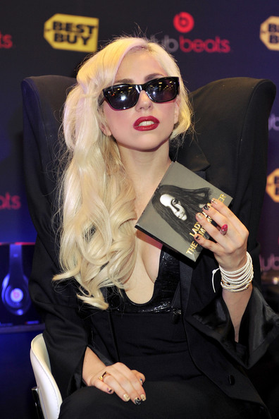 "Lady Gaga attends a CD Signing For ""Monster"" at Best Buy on November 23, 2009 in Los Angeles, California."