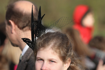 Lady Louise Windsor The Royal Family Attend Church On Christmas Day