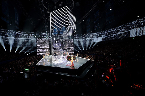 2017 Victoria's Secret Fashion Show in Shanghai - Show [architecture,design,night,performance,stage,technology,city,event,space,performing arts,models,harry styles,shanghai,runway,mercedes-benz arena,china,victorias secret,victorias secret fashion show,shanghai - show]
