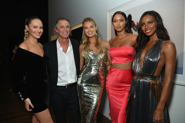 Cindy Crawford And Candice Swanepoel Host 'ANGELS' By Russell James Book Launch And Exhibit - Inside [fashion,lady,event,beauty,dress,model,fun,formal wear,fashion design,party,candice swanepoel,host,cindy crawford,russell james,lais ribeiro,jasmine tookes,angels,l-r,romee strijd,russell james book launch and exhibit - inside]