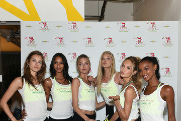 Lais Ribeiro Romee Strijd Victoria's Secret Angels' Charity Ride for Pelotonia