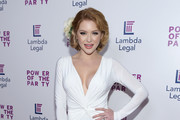 Renee Olstead arrives for the Lambda Legal West Coast Liberty Awards at SLS Hotel at Beverly Hills on June 7, 2018 in Los Angeles, California.