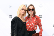 Viktoria Rader and Annette Weber attend the Lana Mueller show during the Berlin Fashion Week Spring/Summer 2019 at ewerk on July 5, 2018 in Berlin, Germany.