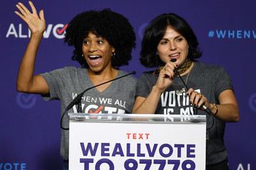 Lana Parrilla Michelle Obama Attends When We All Vote Rally In Las Vegas