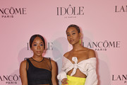 Guests attend the Lancôme announces Zendaya as face of new Idôle fragrance at Palais D'Iena on July 02, 2019 in Paris, France.