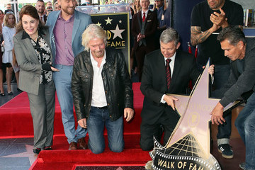 Lance Bass Sir Richard Branson Honored With Star On The Hollywood Walk Of Fame