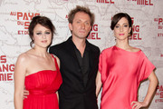 """(L-R) Vanesa Glodjo, Goran Kostic and Zana Marjanovic attend """"In the Land Of Blood And Honey"""" Pairs premiere on February 16, 2012 in Paris, France."""